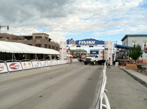 Setting up for the USA Pro Cycling Challenge