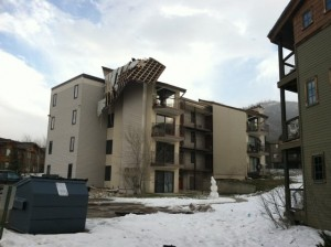 High winds in Steamboat Springs Dec 1