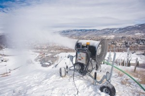Snow Making at Steamboat's Howelsen Hill