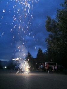 Steamboat fireworks and 4th of July