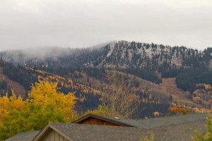 First snow in Steamboat