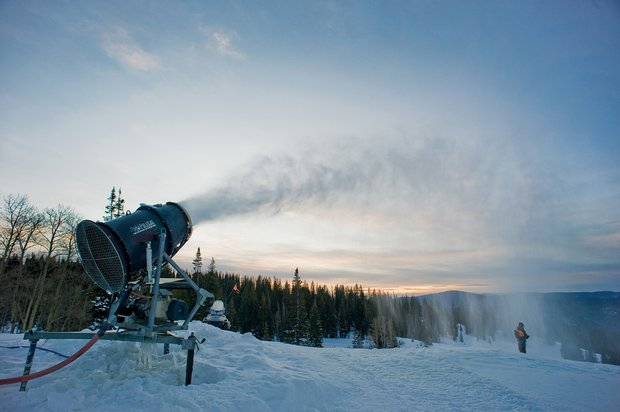 Snowmaking at Steamboat-Photograph by John F. Russell
