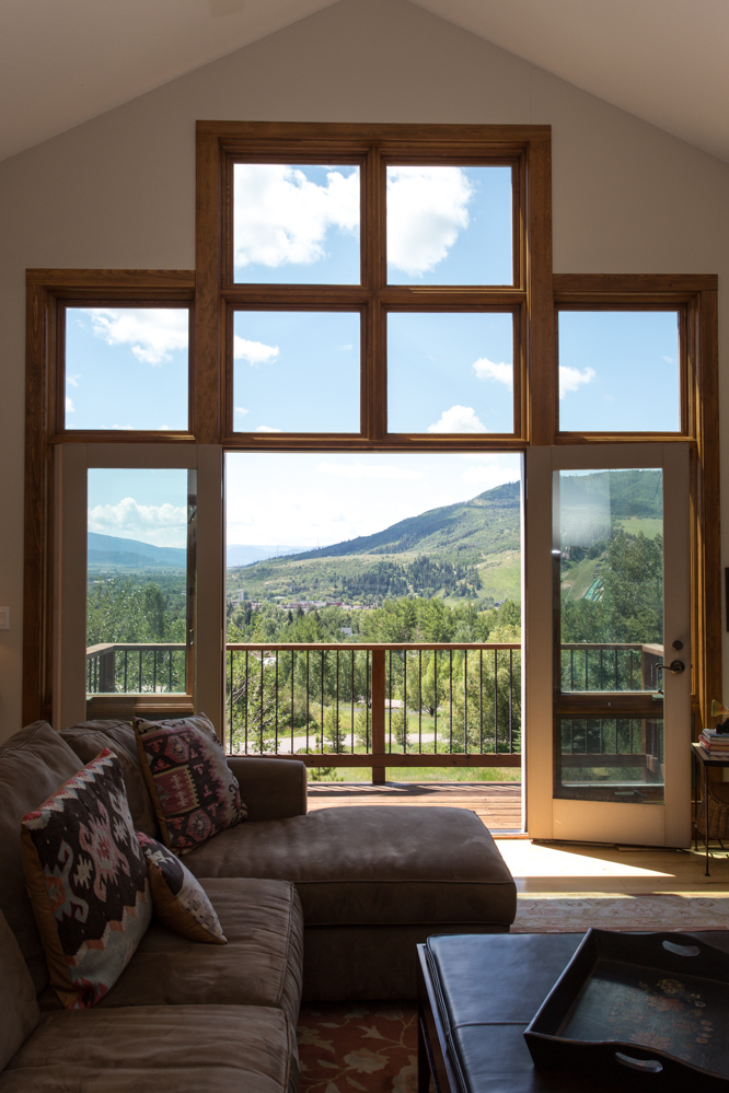 Deck with views of downtown Steamboat