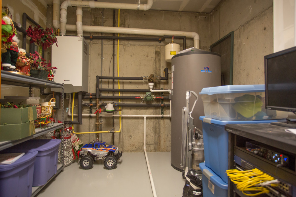 Mechanical room with upgraded systems for efficiency.