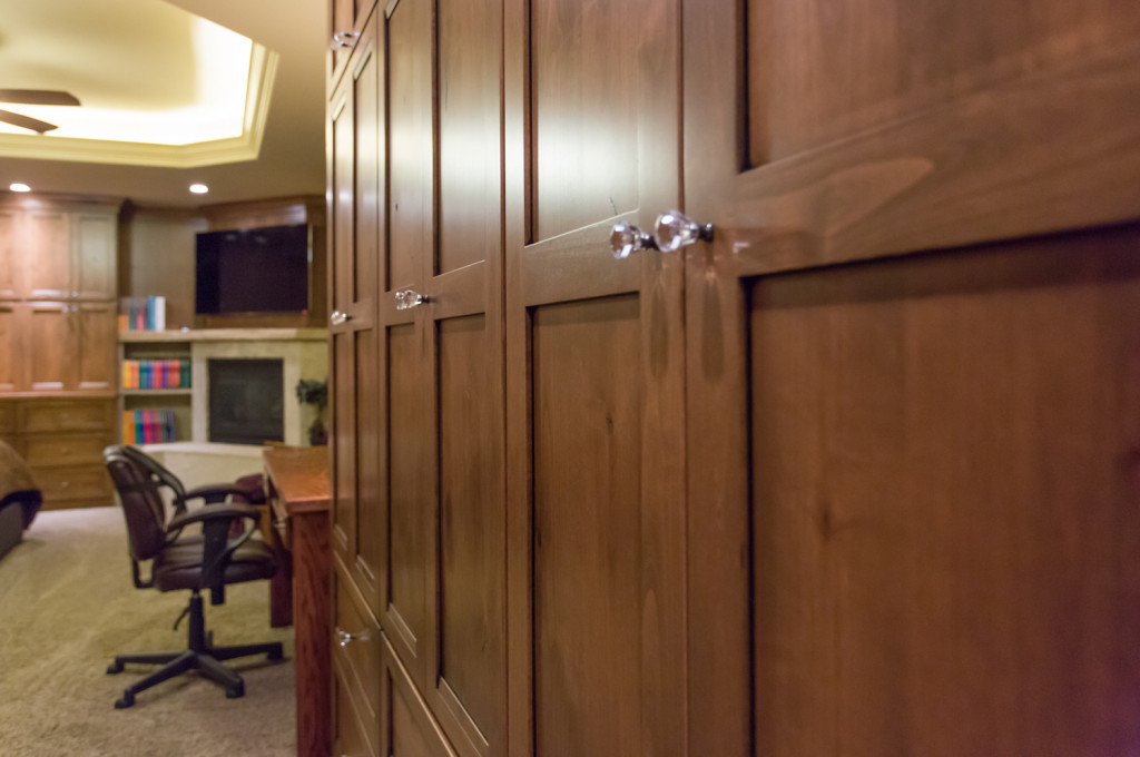 Built-in wood cabinetry in 2nd master suite