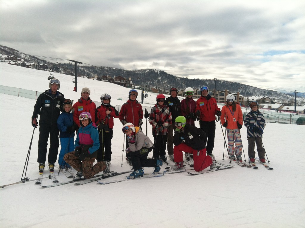 Future Olympians from the Steamboat Springs Winter Sports Club