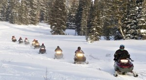 Snowmobile the Yampa Valley