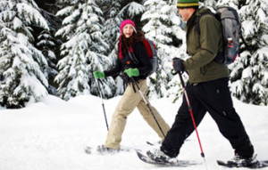 Champagne powder snowshoeing available here