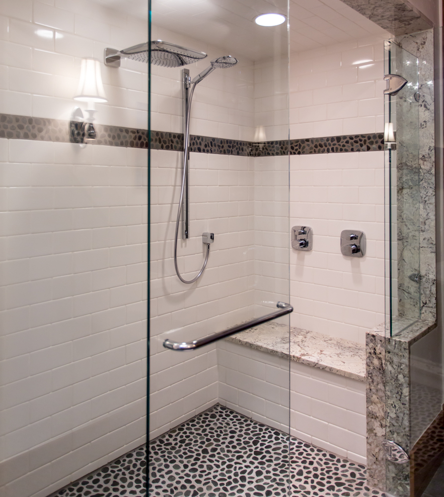 heated shower seat, high end fixtures, 11 Spruce St