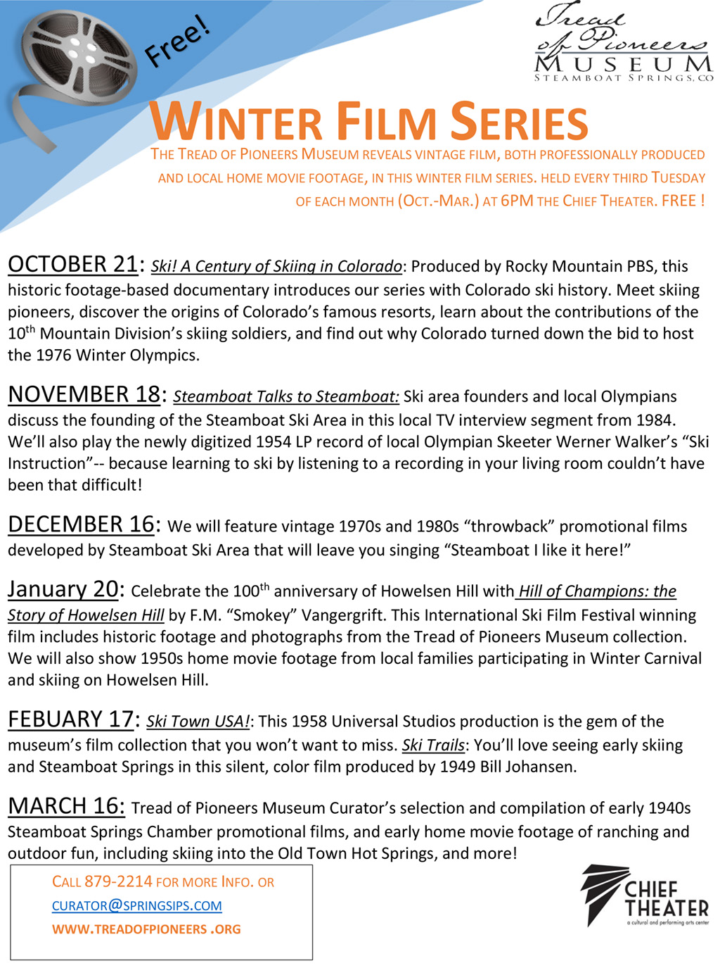 ski town usa, steamboat springs, film series, ski colorado