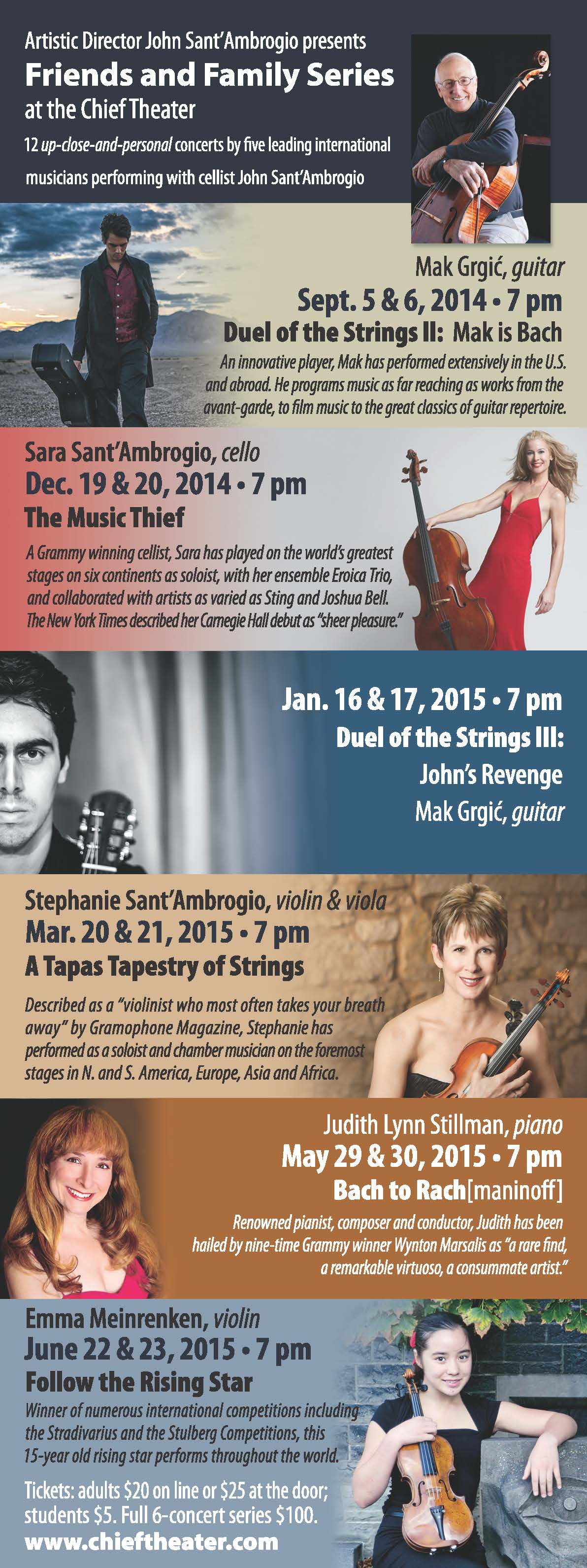 cultural music in Steamboat, Chief Theater, performances, Grammy winners, highly acclaimed musicians,