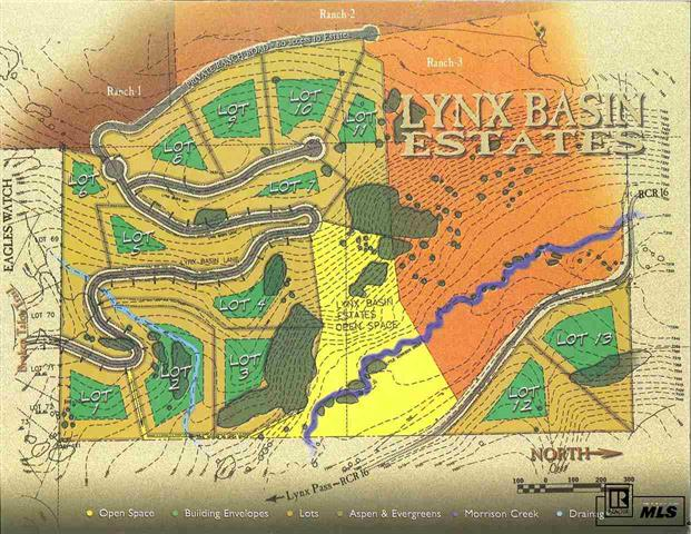 Lynx Basin Estates, Stagecoach Lake,  Steamboat land for sale, mountain lot, lakeside