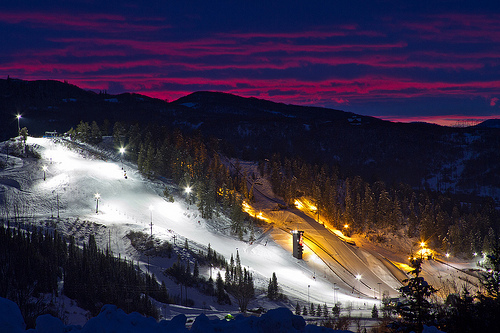 Howelsen Hill at night, Steamboat Springs, night skiing, oldest winter sports club, places to go in 2015, Colorado mountain town,