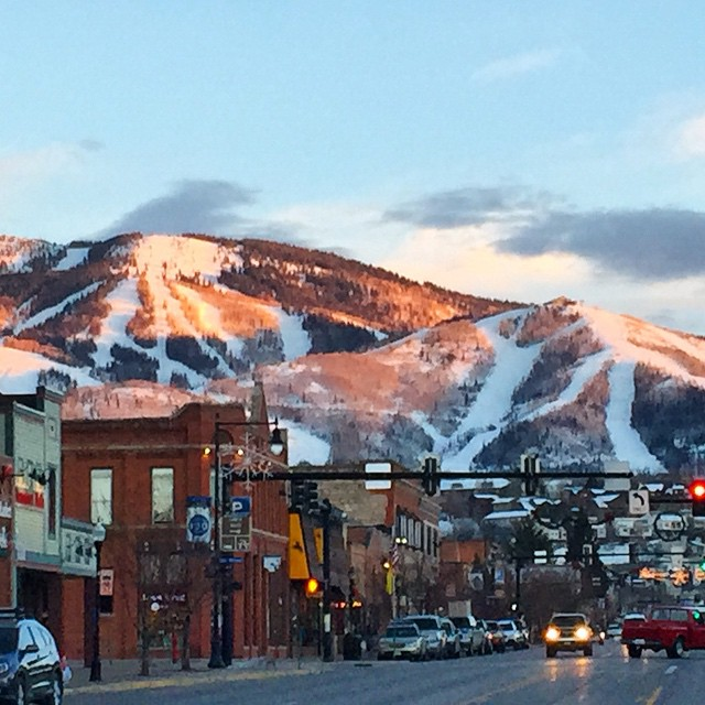 alpenglow, steamboat springs, mt werner, steamboat ski area, downtown, old town steamboat, ski slopes, snowy mountain