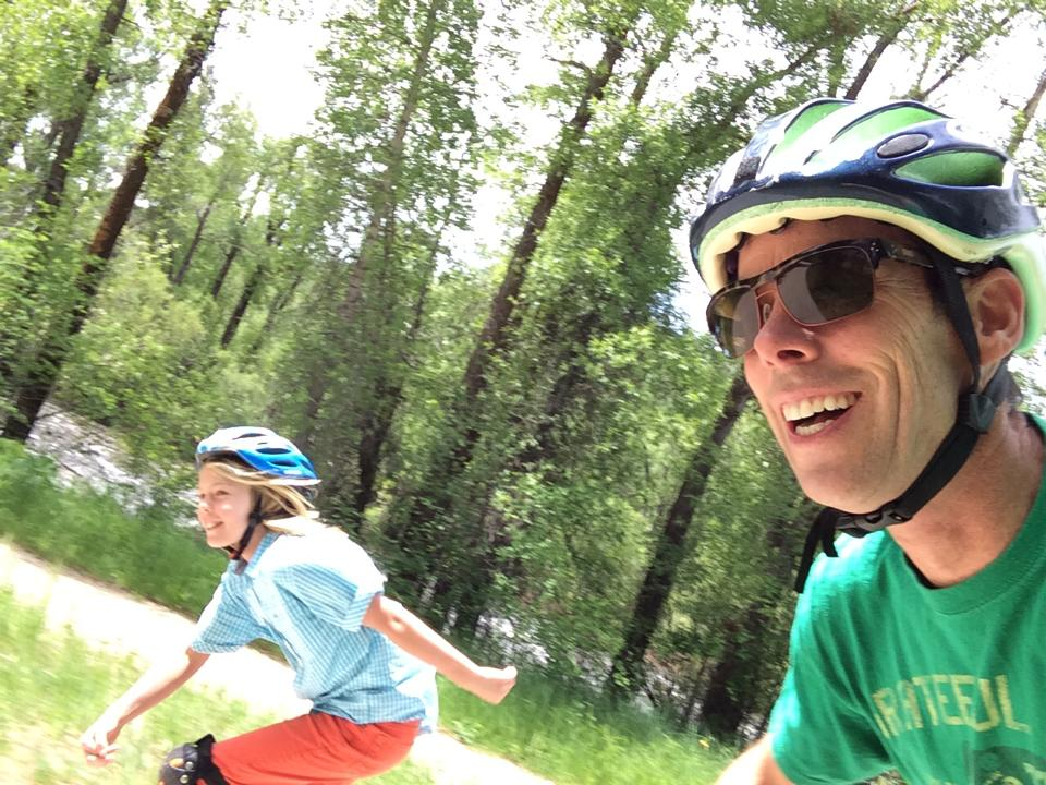 Blading the Yampa River Core Trail in Steamboat Springs
