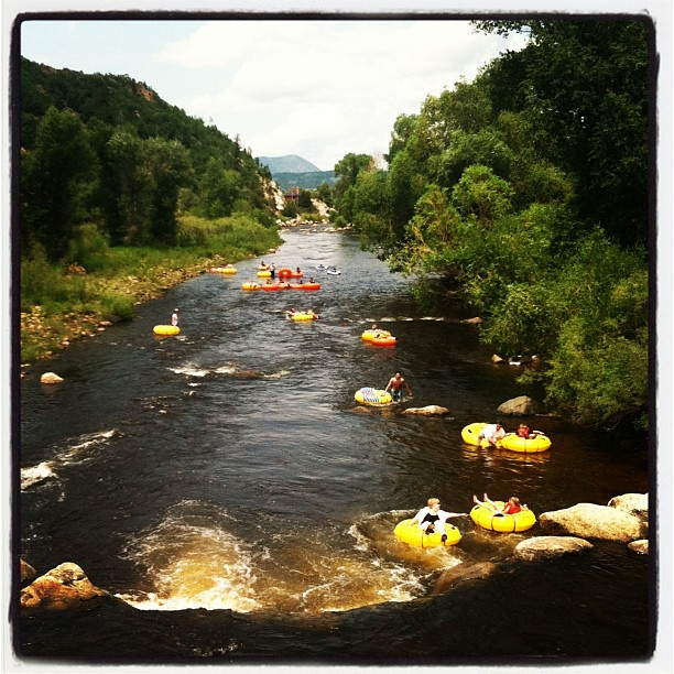 yampa river, steamboat springs, floating on the yampa,