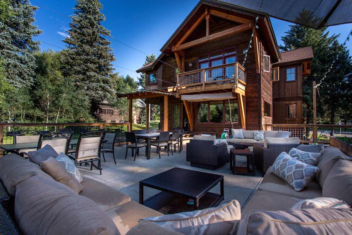 rooftop deck, outdoor living, crawford avenue, old town, steamboat springs real estate, views, above old town