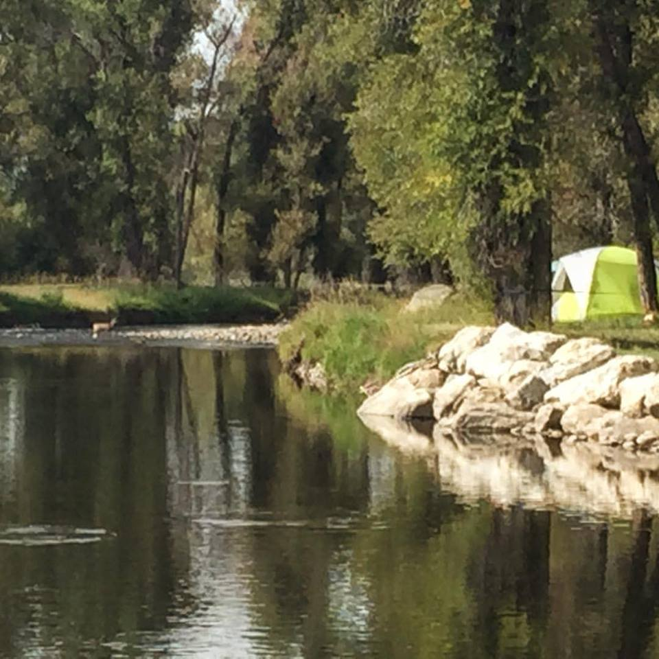 Camping along the Elk River