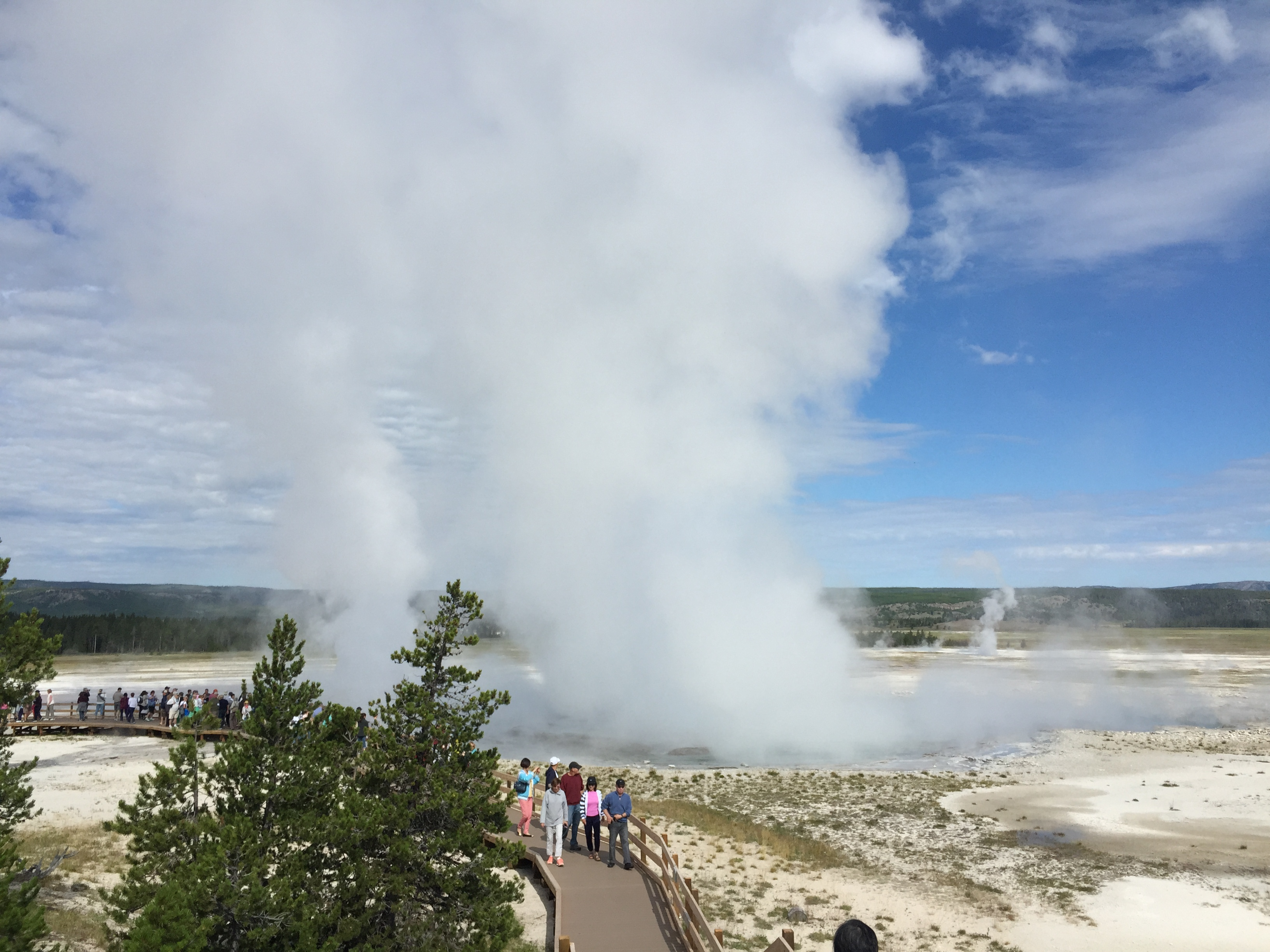 Old Faithful at Yellowstone National Park, WY