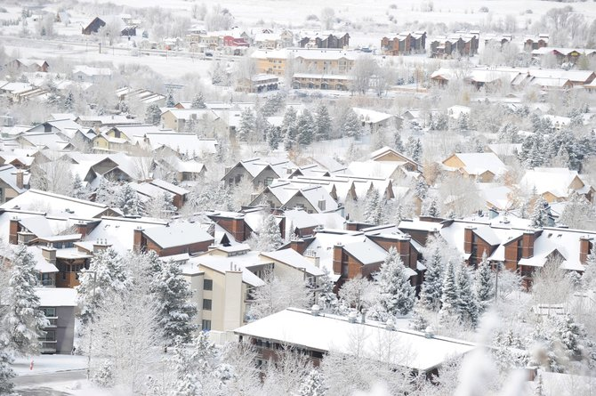 Steamboat Springs Blanketed in Snow. Courtesty Steamboat Pilot & Today.