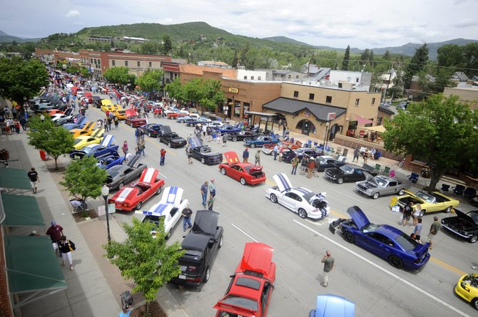 Mainstreat Steamboat during the Mustang Round Up. Photo courtesy of Steamboat Pilot / Matt Stensland